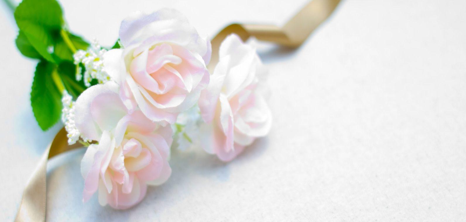 ブログ50記事祝い 花