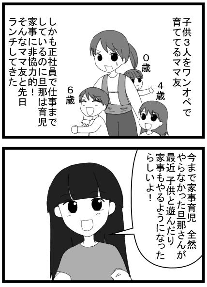家事育児をしない旦那漫画
